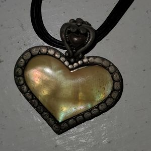 Cookie lee heart reversible necklace